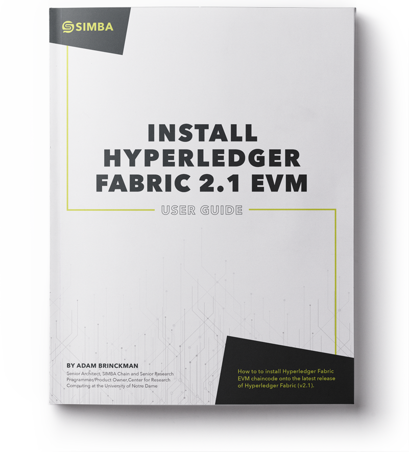 Install Hyperledger Fabric 2.1 EVM